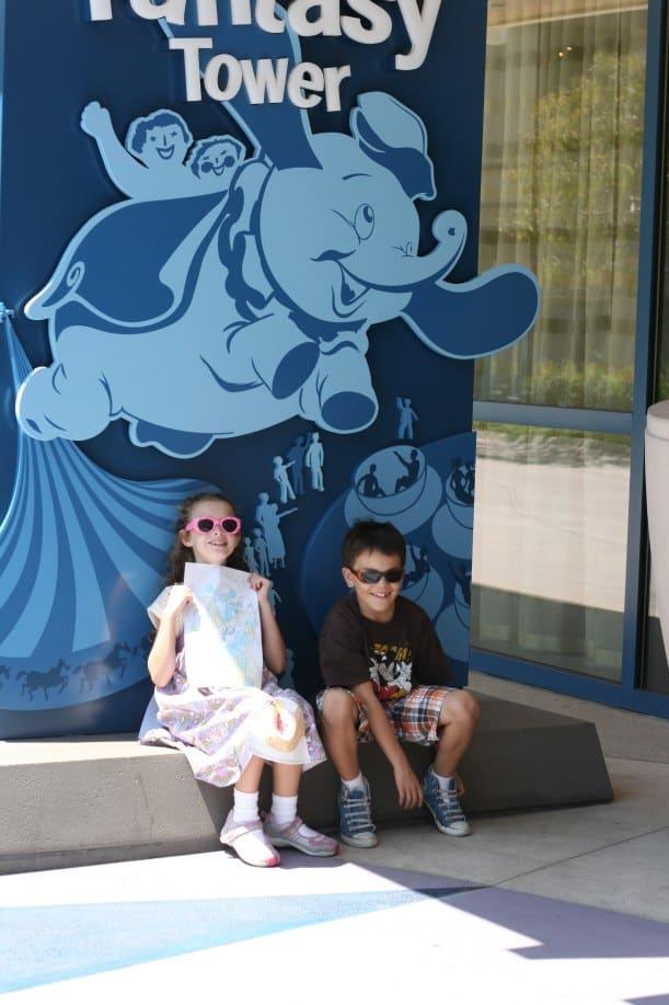 Fantasyland Tower at Disneyland Hotel.