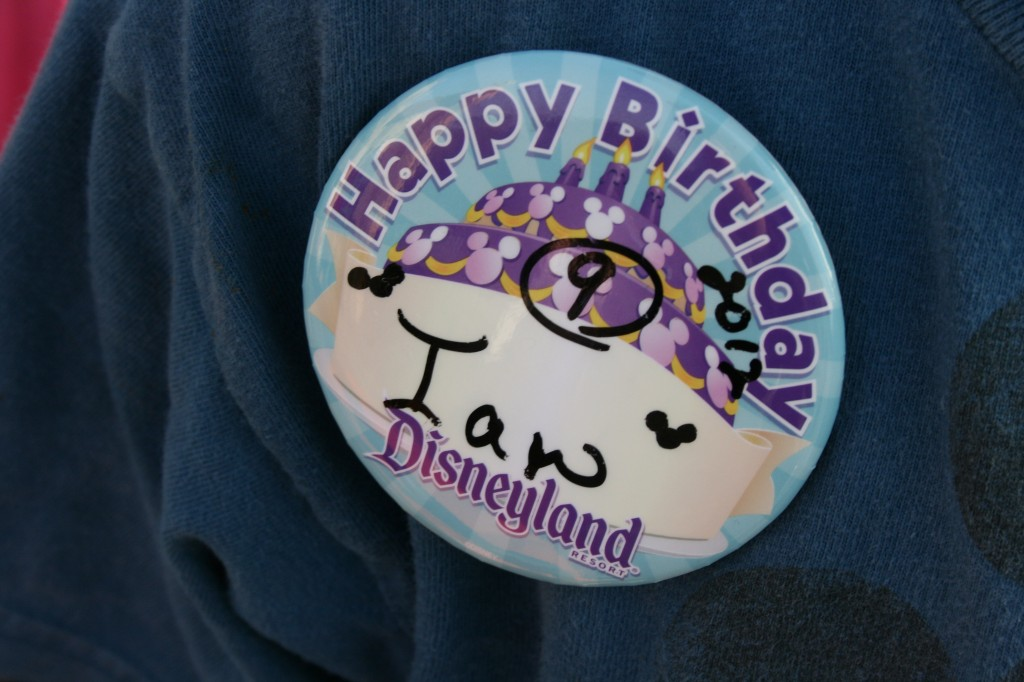 Get a free Happy Birthday button at Disneyland, read more to find out how! {Saving up for Disney}