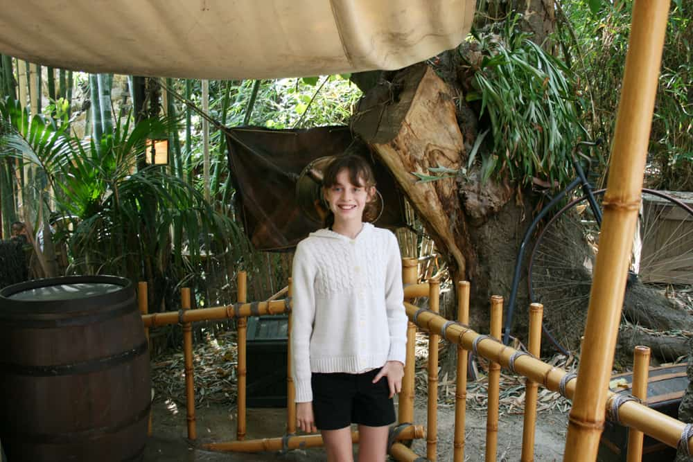 Girl in Tarzan's Tree House at Disneyland
