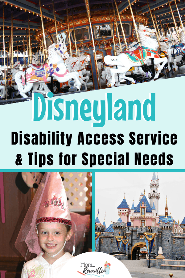 If you're planning a Disneyland vacation these are the must-know tips for special needs including physical, mobility and cognitive. Tips for obtaining a Disability Access Service pass (DAS) at the Disneyland resort including how it works, who can use it and ways to keep your Disney day melt down free! #MomRewritten #Disneyland #DisneyTips #SpecialNeeds #Disney #Autism #Autistic