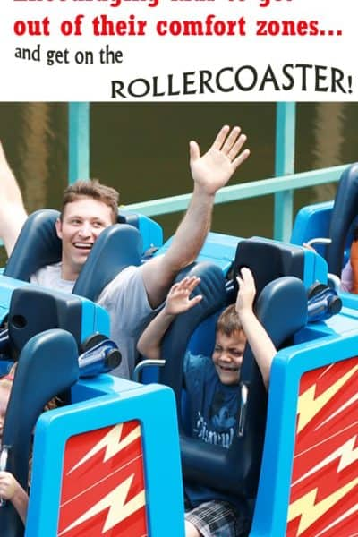 Encouraging Kids in Disney Parks – Out of their comfort zone (and on the rollercoaster!)
