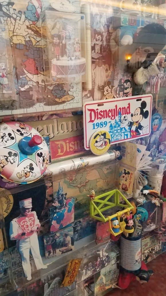 Classic memorabilia on display at the Disneyland Hotel