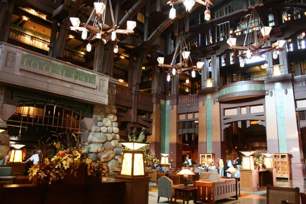 Lobby of Disney Grand Californian hotel