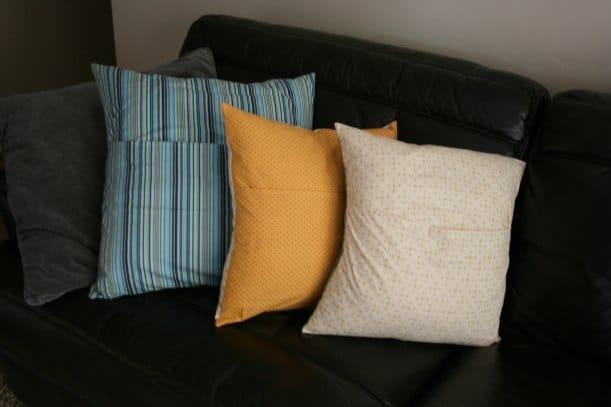 DIY Pillow Covers {Saving Up for Disney}