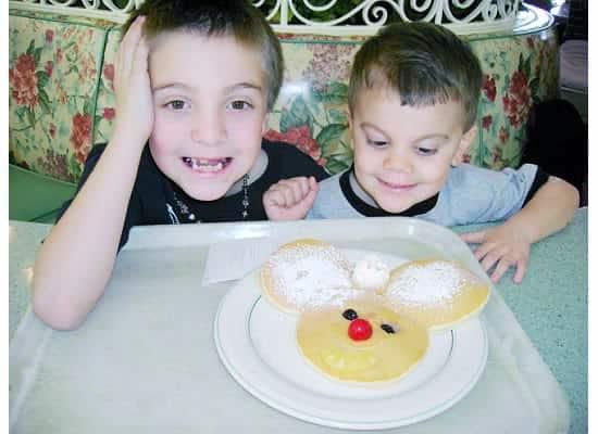 Mickey Pancakes at Disneyland {Saving up for Disney}