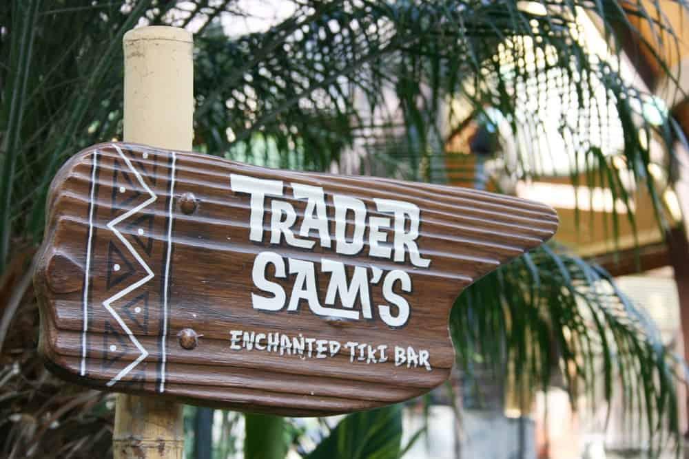 Trader Sam's Enchanted Tiki Bar sign
