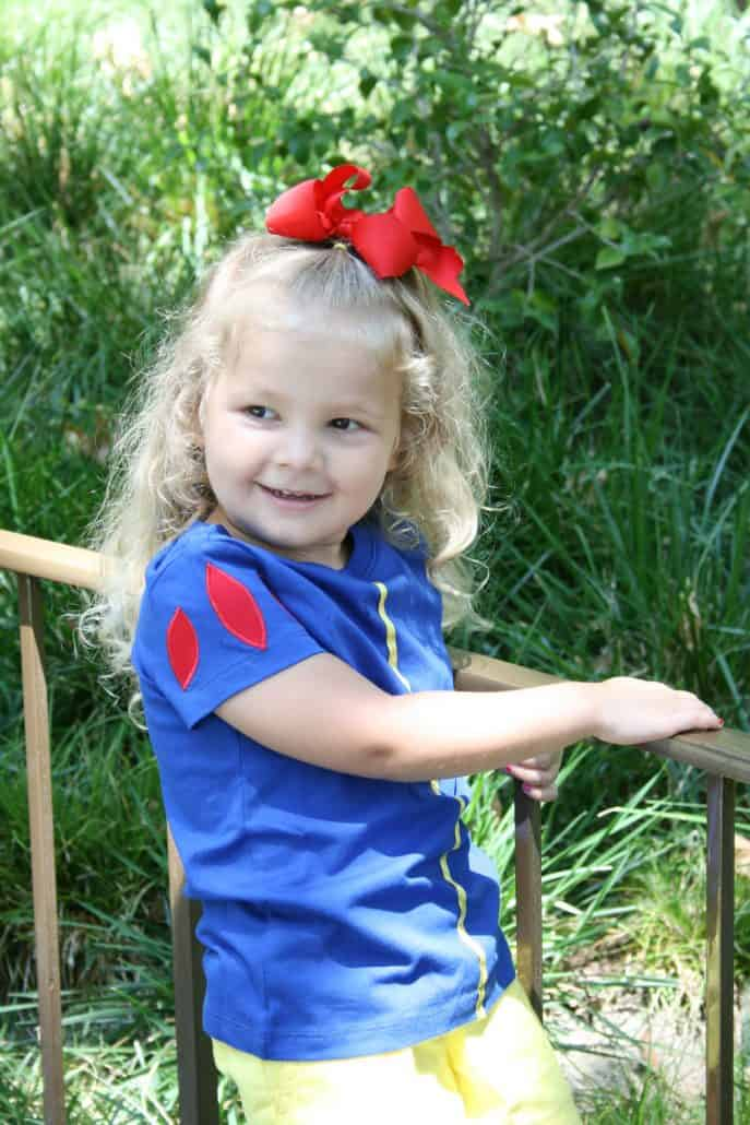 Girl's DIY Snow White Tee shirt