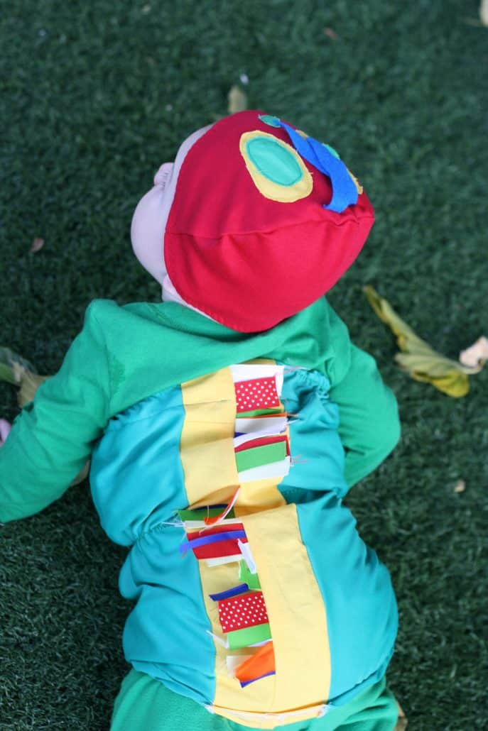 Handmade Very Hungry Caterpillar costume for baby