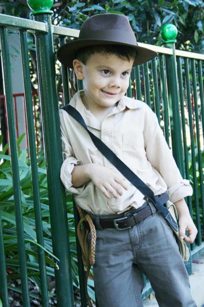 Kid's DIY Indiana Jones Halloween costume