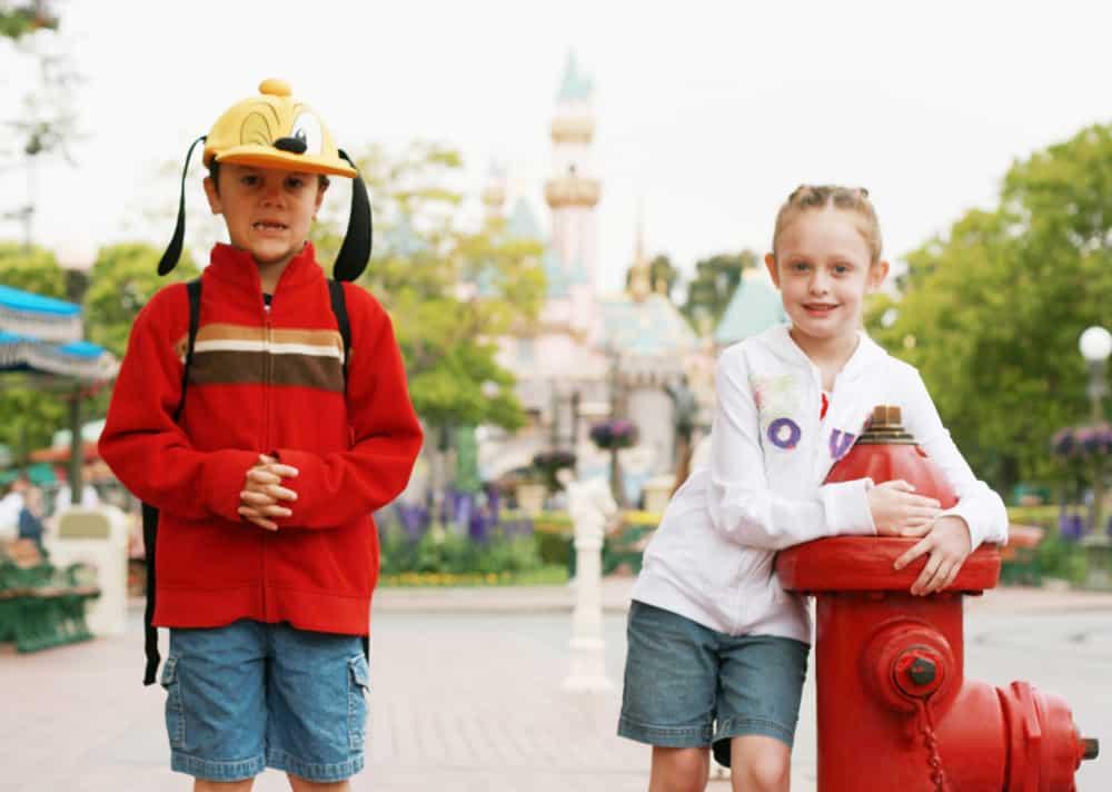 Jacket, hoodie and hat on Main Street USA Disneyland