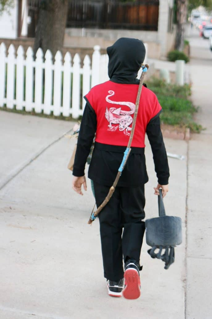 Boy's handpainted Ninja dragon Halloween costume