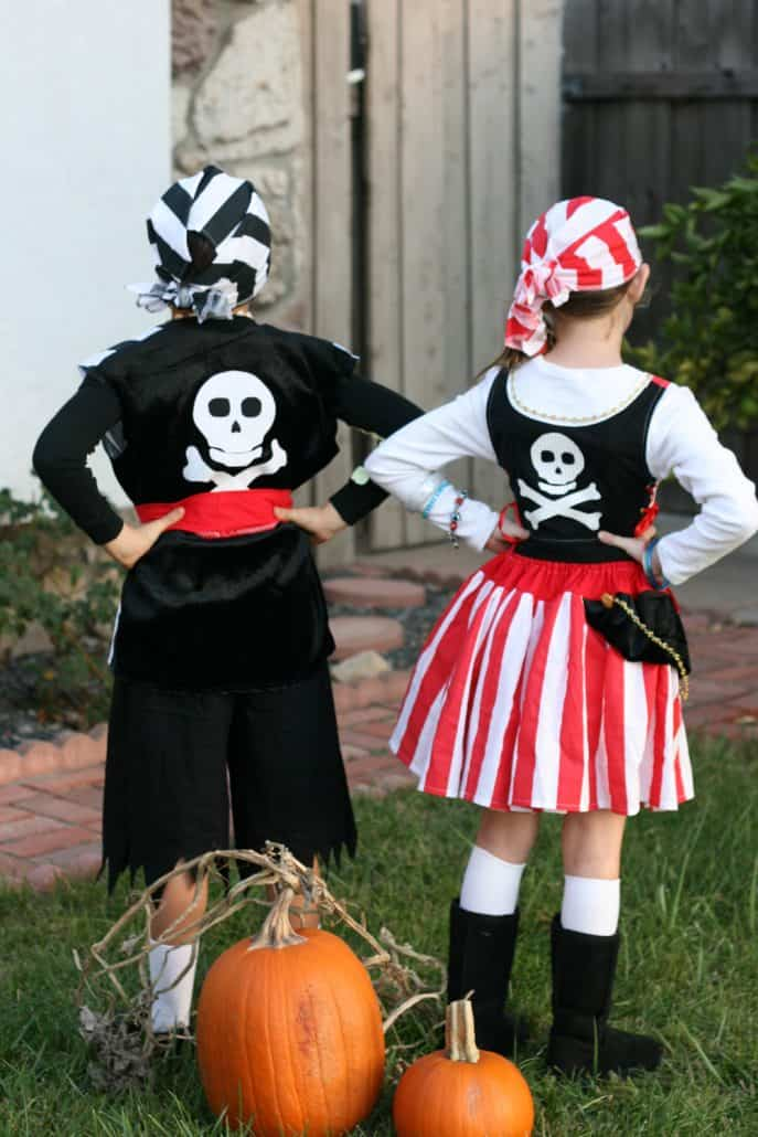 Pirate Halloween costumes for boy and girl