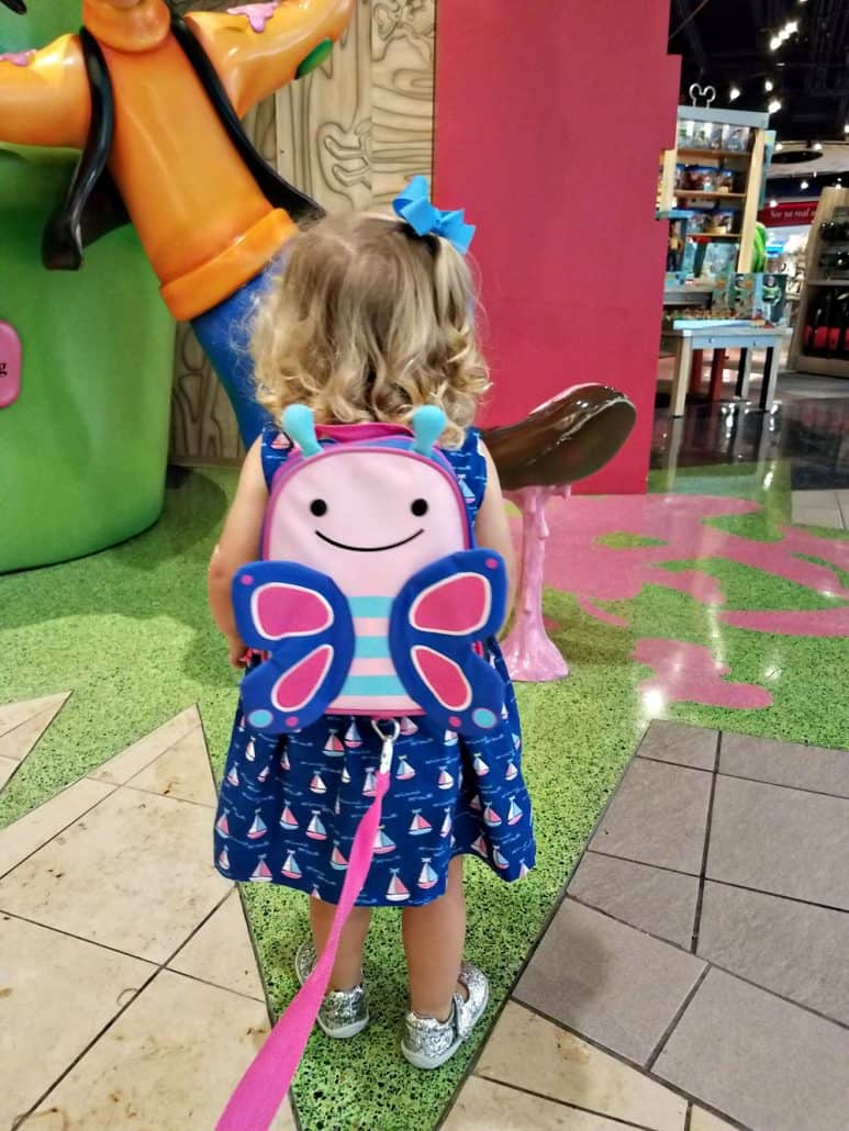 Skip Hop toddler backpack with tether harness