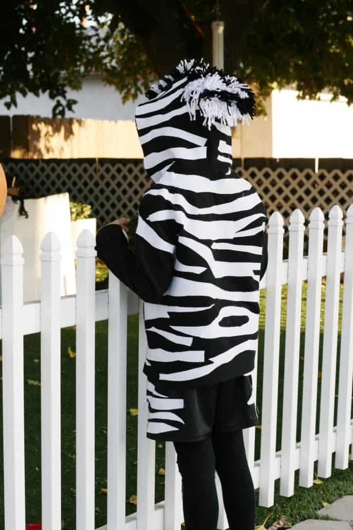 Handmade zebra costume