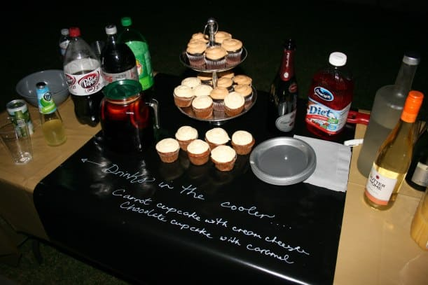 Birthday party on a budget - Use black paper & a white pen for a chalkboard effect.