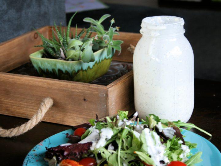 Easy Homemade Creamy Pesto Salad Dressing Recipe