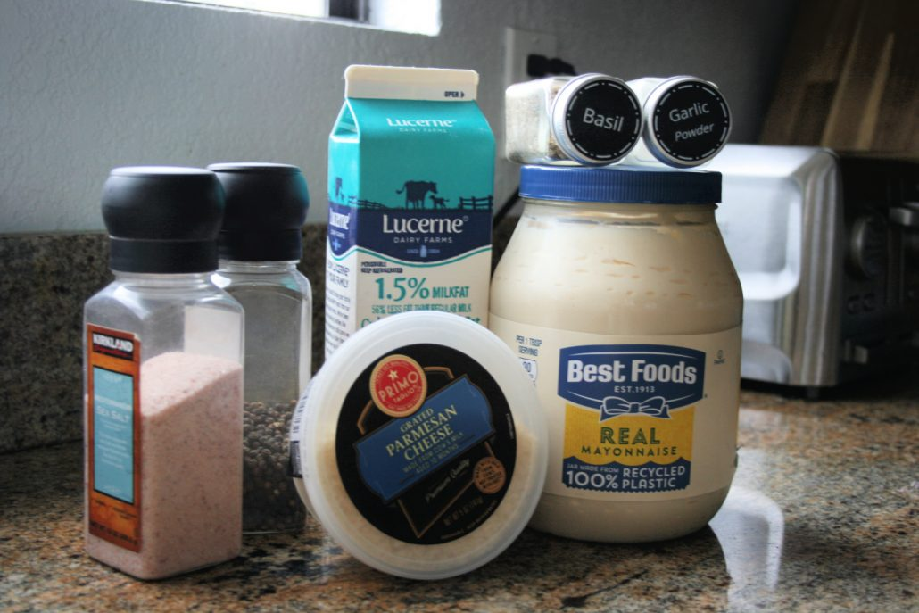 Ingredients for copycat Spaghetti Factory salad dressing