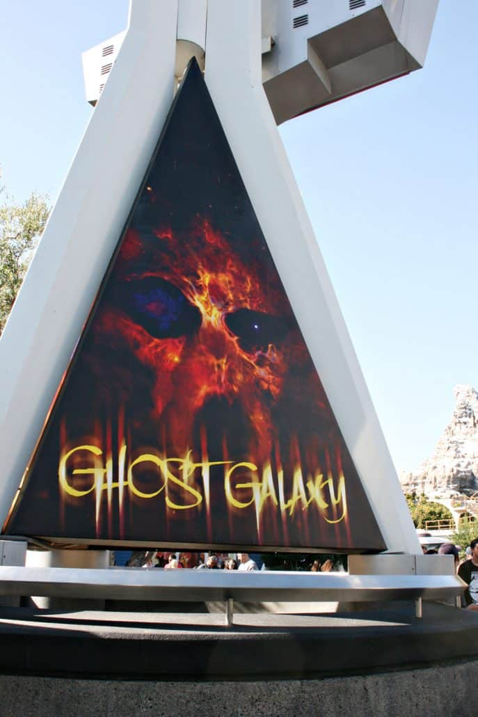 Ghost Galaxy ride sign at Disneyland