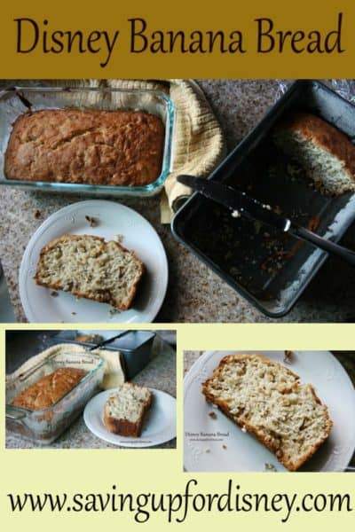 Eat at Home and Save – Disney Resort Banana Bread