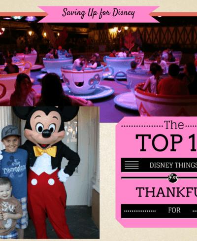 10 Disney Things I'm Thankful For