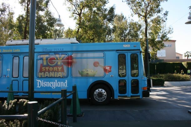 """Taking the Disneyland shuttle from """"off-site"""" parking lots"""