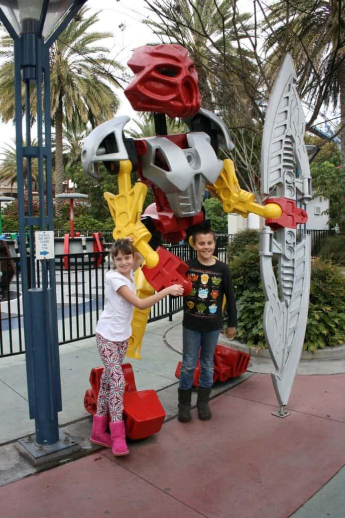 LEGOLAND oversized Bionicles figures inside the theme park