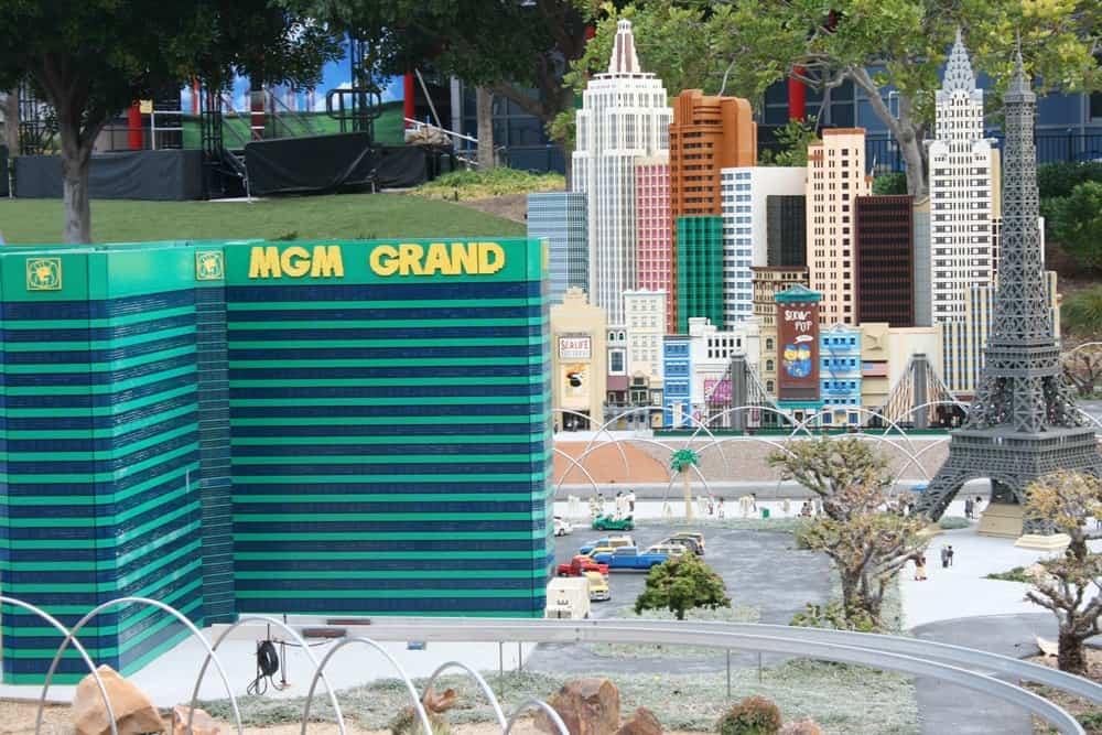 LEGOLAND California Las Vegas scene in Miniland USA