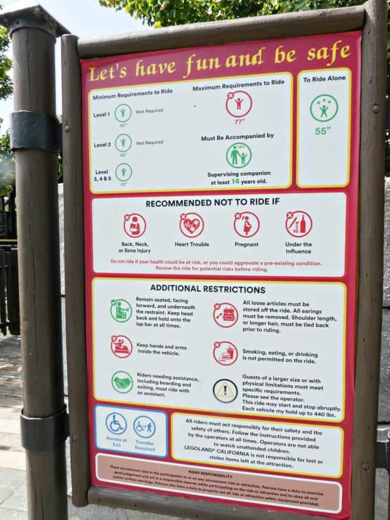 LEGOLAND California attraction signage