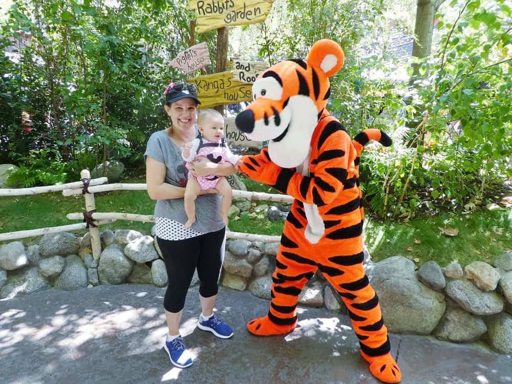 Baby with Tigger at Disneyland