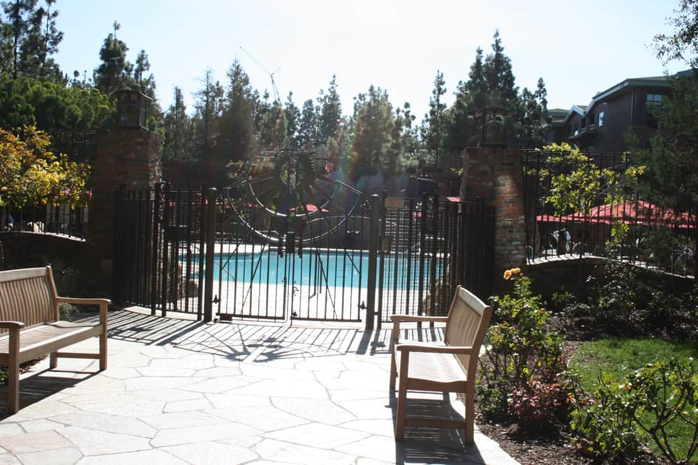 Entrance to the Disney Grand Californian Hotel pool