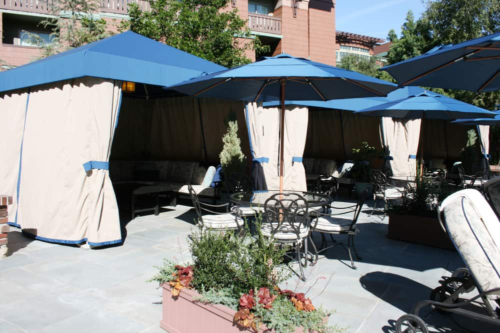 Disney's Grand Californian hotel pool cabanas