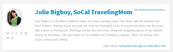 SoCal Traveling Mom, Julie Bigboy
