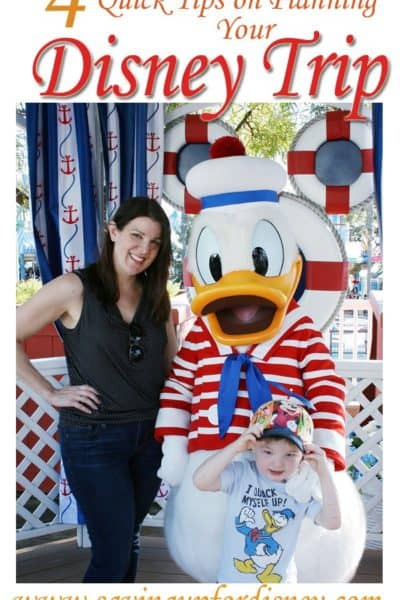 4 Quick Tips on Planning Your Disney Trip