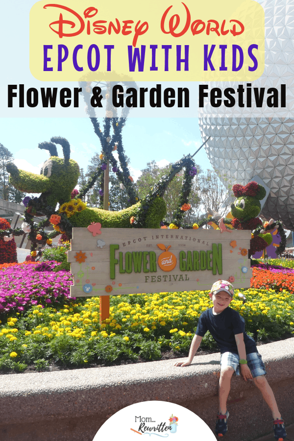 Wondering what kids can do at the Epcot International Flower and Garden Festival? This kid-friendly guide to the Disney World special event explains what there is for kids to do, eat and see! From kid-friendly foods in the Marketplace, Disney character topiaries and interactive playground gardens, there's more for kids to enjoy at Epcot Flower & Garden this year. #Epcot #FlowerandGarden #Disney #WDW | Disney World Vacation | Disney with Kids | Disney Travel | Disney Tips | Travel with Kids