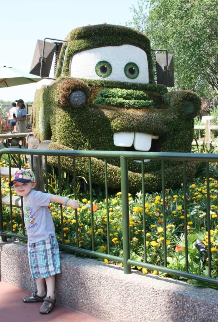 Mater topiary at Epcot flower and garden