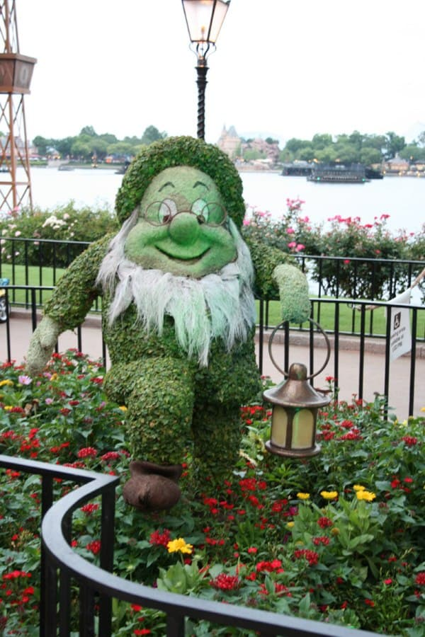 Doc topiary at Epcot flower and garden