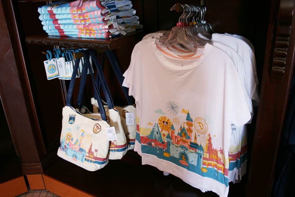 Racks of Disneyland merchandise