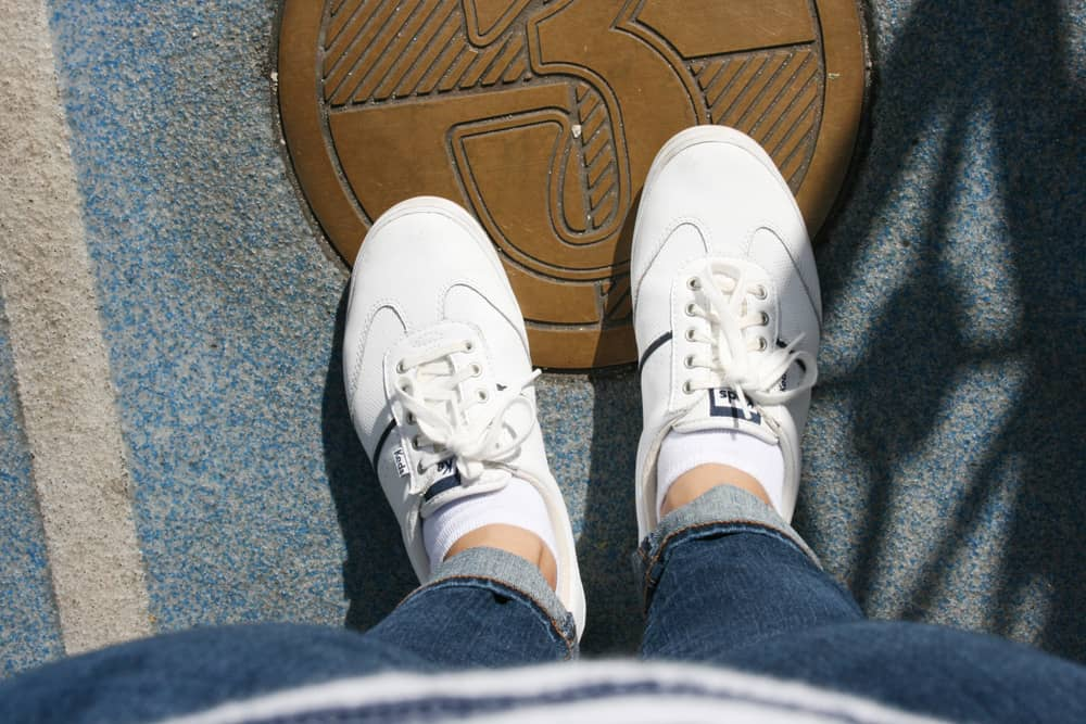 Woman wearing Keds at Disneyland