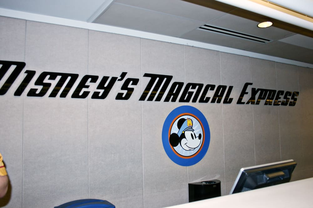 Disney's Magical Express sign in Orlando airport