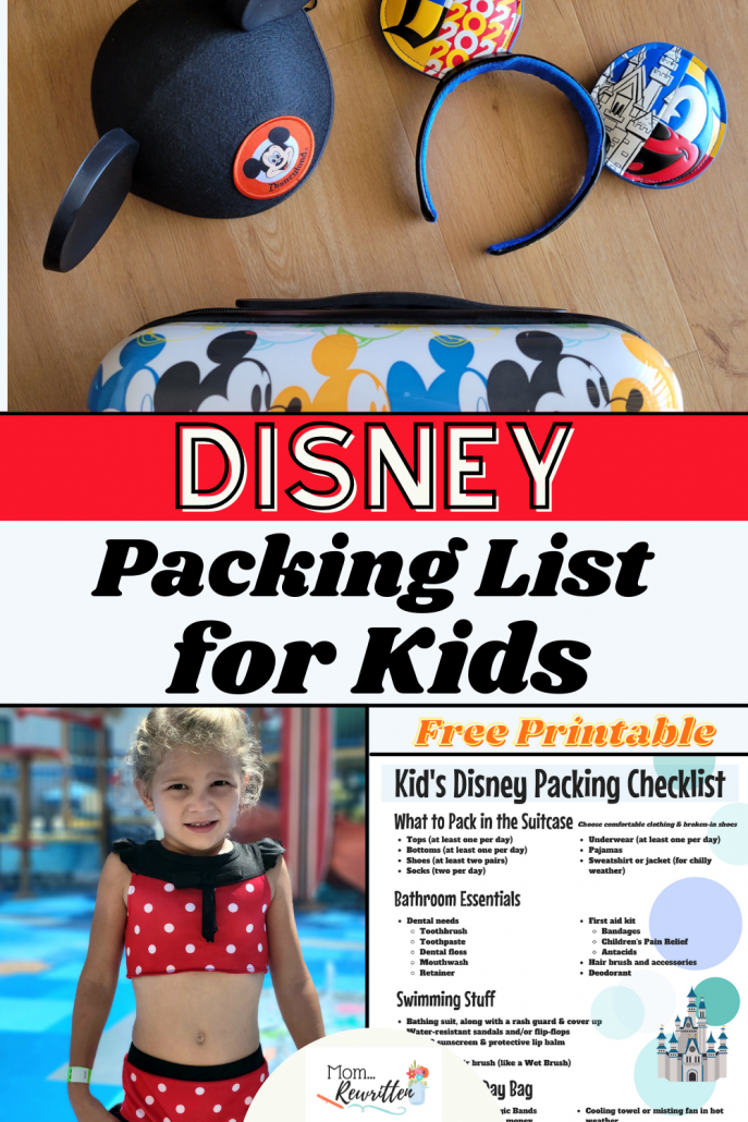 Disney Packing List for Kids - FREE Printable Checklist