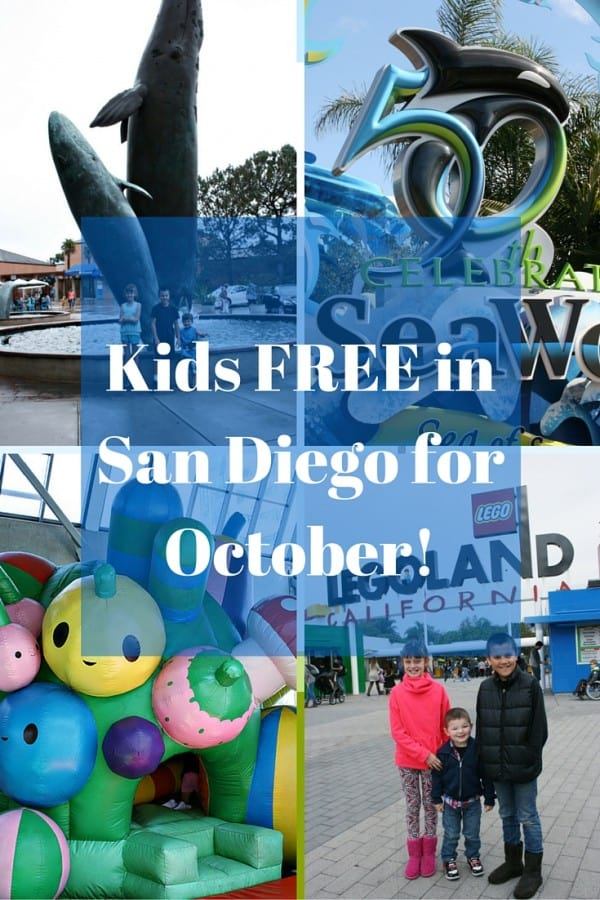 Kids FREE in San Diego for October!