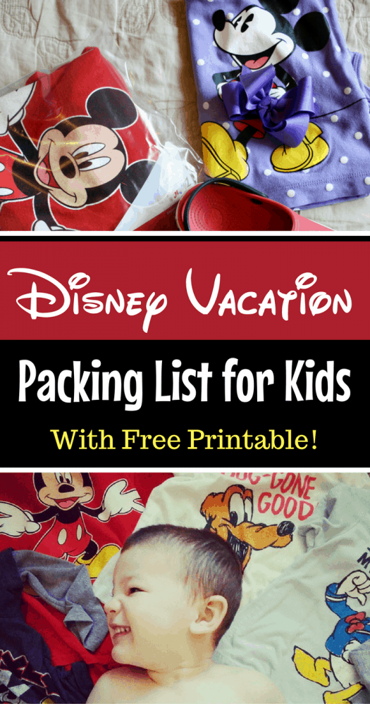 Disney Trip FREE Printable - Packing List for Kids that they can use to pack for themselves!