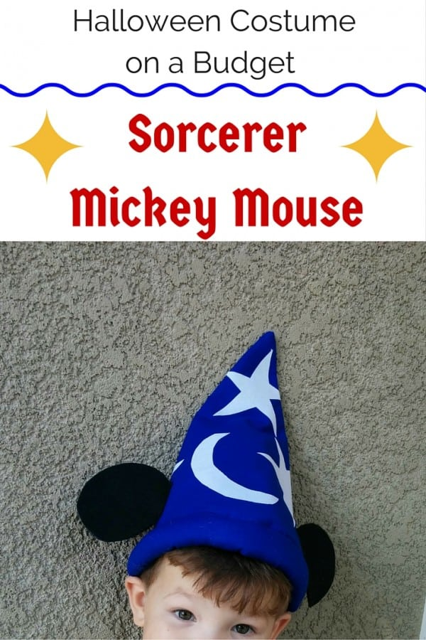 Halloween Costume on a Budget - Sorcerer Mickey Mouse