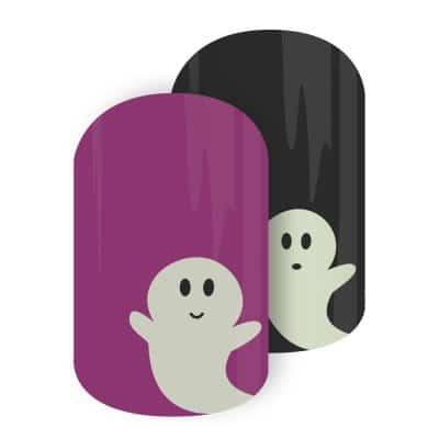 Jamberry Nail Wraps Glowing Ghouls for Halloween!