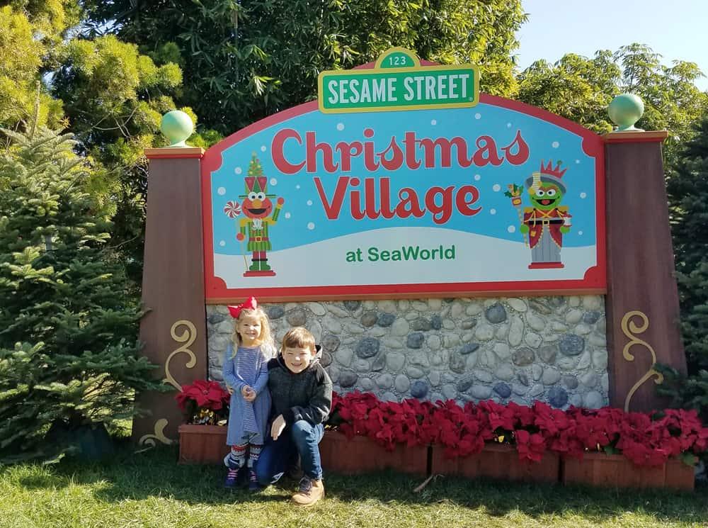 SeaWorld San Diego Christmas Celebration Sesame Street Village entrance