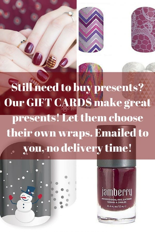 Jamberry gift cards make the best presents! GIFT CERTIFICATE GIVEAWAY!