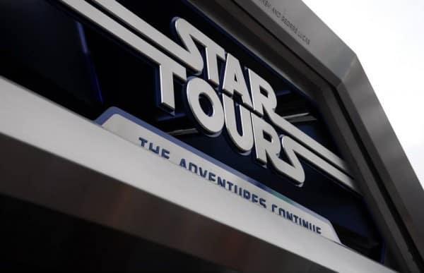 Star Tours Disneyland sign