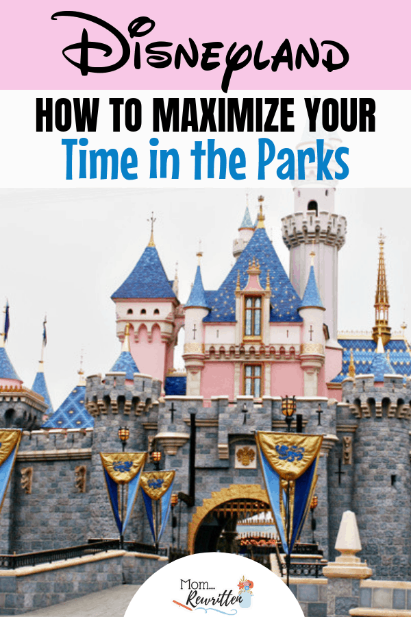 The first two hours at Disneyland are the most crucial when maximizing your time in the parks. Find out the tips on how to make the most of Extra Magic Hours, getting through security lines and itineraries for younger kids, teens and adults in both Disneyland and Disney California Adventure park. #MomRewritten #Disney #DisneyTips | Theme Park Tips