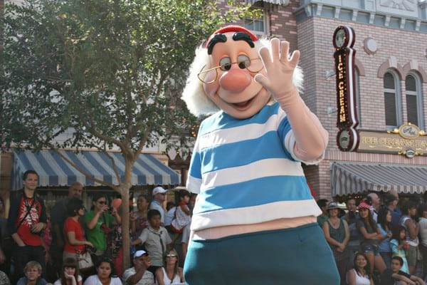 Disneyland parade with Smee from Peter Pan