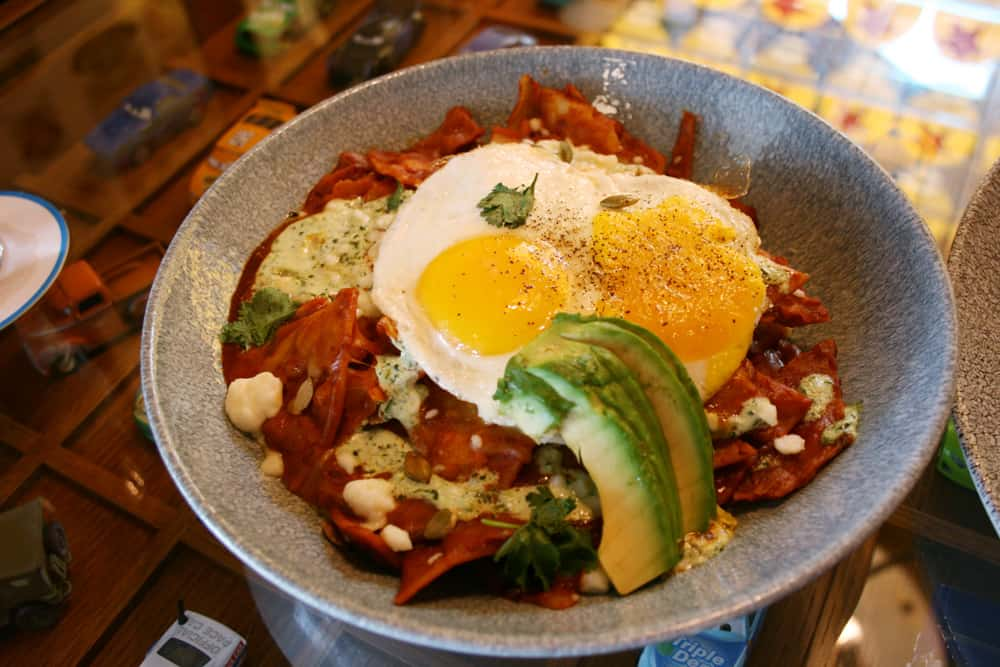 Lamplight Lounge brunch Lamplight Chilaquiles